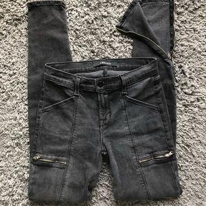 J brand kassidy grey cascade zip ankles jeans 25
